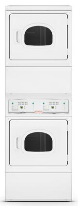 Speed Queen  LSEE5AGW173TW01 Commercial Stacked Dryers White, Main Image
