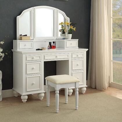 Furniture of America Athy CMDK6848WH Vanity White, CM-DK6848WH