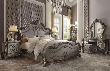 Acme Furniture Versailles 26860Q7SET Bedroom Set Silver, Bedroom Set