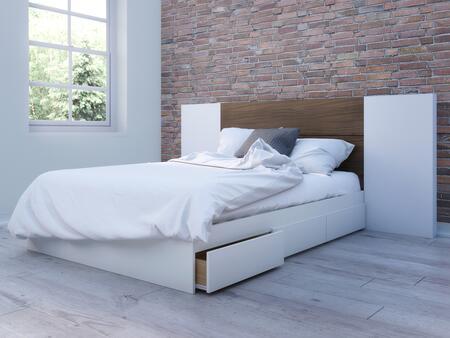 Nexera Multiple Series 402002 Bed White, Main Image