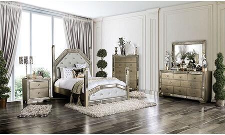 Furniture of America Loraine CM7185QBNCDM Bedroom Set Brown, CM7185QB-NCDM