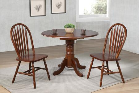 Sunset Trading Andrews DLUADW4242820CT3PC Dining Room Set Brown, Main Image