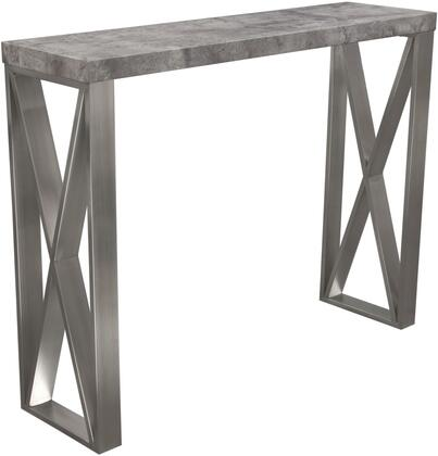 """Carrera_Collection_CARRERABTMA2_55""""_Bar_Height_Table_with_Faux_Concrete_Top_and_Brushed_Stainless_Steel_Legs_in"""