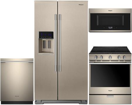 Whirlpool 940943 4 piece Sunset Bronze Kitchen Appliances Package