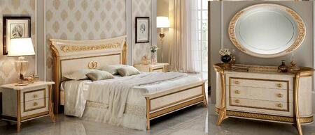 ESF Melodia MELODIABEDQS2NSDRMR Bedroom Set Beige, Collections Arredoclassic Bedroom Italy Melodia Night side 3