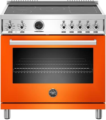 Bertazzoni Professional PROF365INSART Freestanding Electric Range Orange, PROF365INSART  36 inch Induction Range