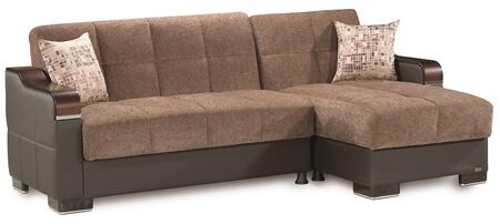 Casamode Down Town DOWNTOWNSECTIONALLCBROWNFABRIC05370 Sectional Sofa Brown, Main Image