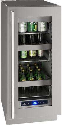 U-Line 5 Class UHRE515SG01A Compact Refrigerator Stainless Steel, Main Image