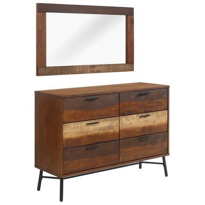 Modway Arwen MOD6110WALSET Dresser Brown, MOD-6110-WAL-SET side
