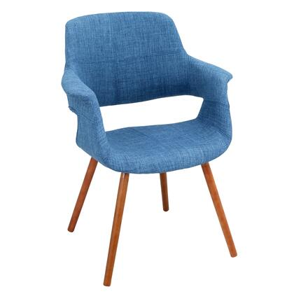 LumiSource Vintage Flair CHRJYVFLBU Accent Chair Blue, CHR-JY-VFLBU Side
