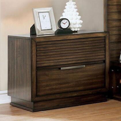 Furniture of America Torino CM7543N Nightstand Brown, Main