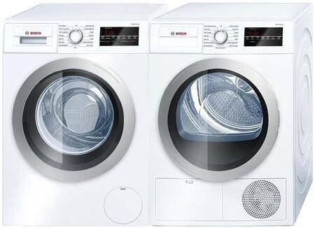 Bosch 500 Series 964046 Washer & Dryer Set White, Main Image