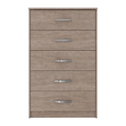 Signature Design by Ashley Flannia EB2520145 Chest of Drawer Gray, EB2520 145 HEAD ON SW