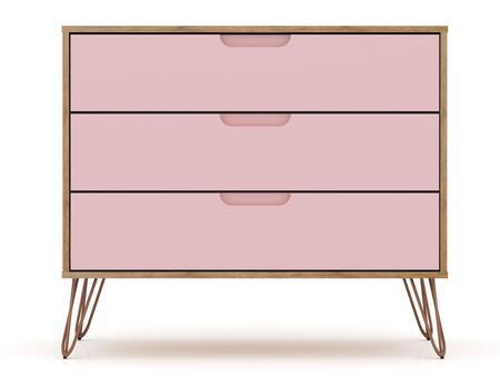 Manhattan Comfort Rockefeller 103GMC6 Dresser Pink, 103GMC6 Main Image