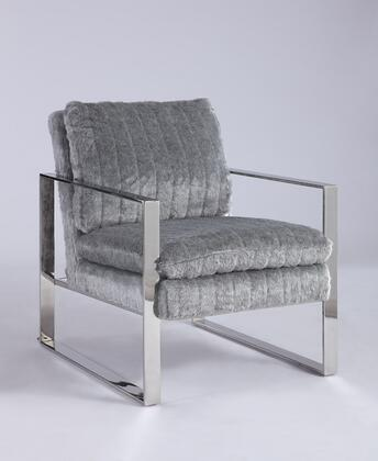 Chintaly 2012ACCGRY Accent Chair Gray, Main Image