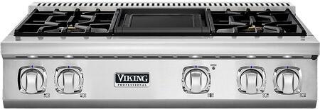 Viking 7 Series VGRT7364GSSLP Gas Cooktop Stainless Steel, Main Image