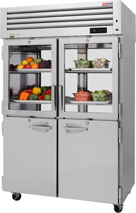 PRO-50R-GSH-PT-N 52″ Pro Series Glass and Solid Half Door Pass-Thru Refrigerator with 53.47 cu. ft. Capacity  Self-Cleaning Condenser  Digital