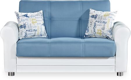 Casamode Avalon Plus AVALONPLUSLOVESEATPRUSABLUE Loveseat Blue, Main Image