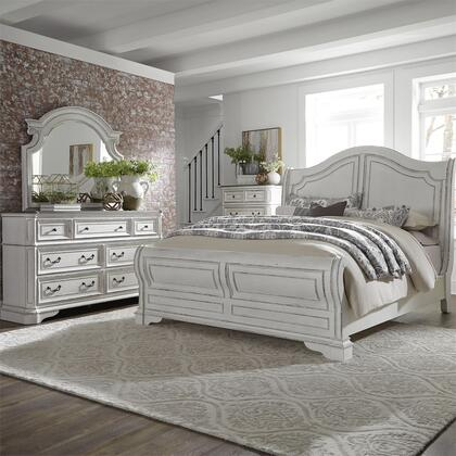 Liberty Furniture Magnolia Manor 244BRQSLDMC Bedroom Set White, 244 br qsldmc