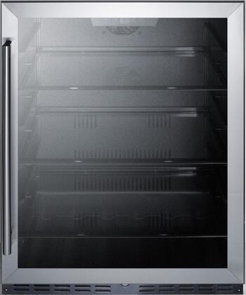 Summit  AL57GCSS Compact Refrigerator Stainless Steel, Main Image