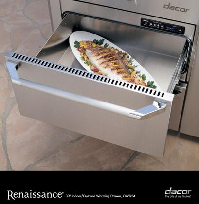 "Dacor Renaissance OWD24 Warming Drawer Panel Ready, OWD24 Renaissance 24"" Electric Warming Drawer"