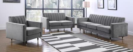 Meridian Lola 619GreySET Living Room Set Gray, Main Image