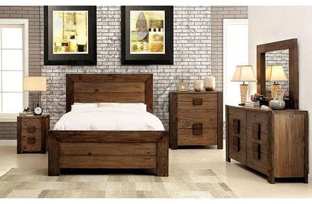Furniture of America Aveiro CM7627CKBDMCN Bedroom Set Brown, Main Image
