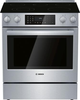 Bosch 800 Series HEI8056U Slide-In Electric Range Stainless Steel, Main Image