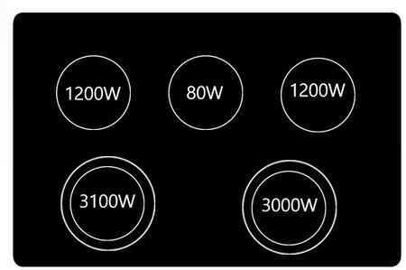 GE  JB700DJ Freestanding Electric Range , Burner Configuration