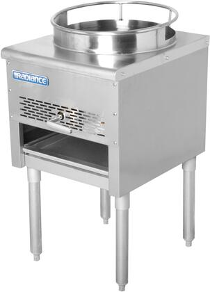 TAWR-16 18″ Heavy Duty Wok Range with 16″ Opening  125 000 BTU Output  Continuous Pilot and Galvanized Legs in Stainless