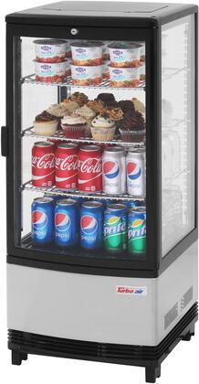 Turbo Air  CRT771RN Display and Merchandising Refrigerator Stainless Steel, CRT771RN Angled View