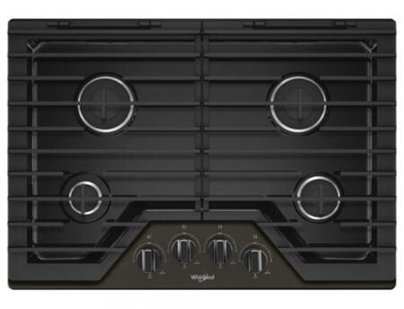 Whirlpool  WCG55US0HV Gas Cooktop Black Stainless Steel, WCG55US0HV Gas Cooktop