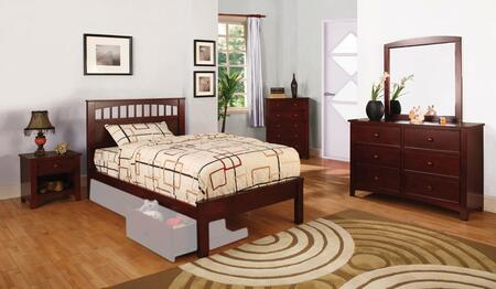 Furniture of America Carus CM7903CHFSBDMCN Bedroom Set Brown, CM7903CHFSBDMCN