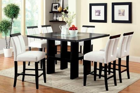 Furniture of America Luminar II CM3559PT6PC Dining Room Set Black, main image