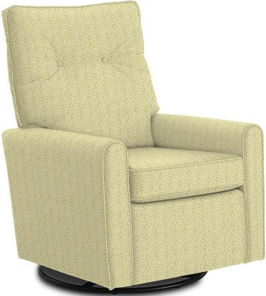 Phylicia Collection 4007-23045 Recliner with 360-Degrees Swivel Glider Metal Base  Removable Back  High Backrest  Zipper Access and Fabric Upholstery