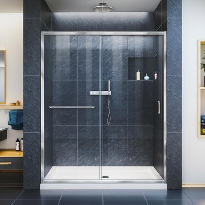 DreamLine  SHDR095472001 Shower Door , Infinity Z Shower Door 60 Chrome