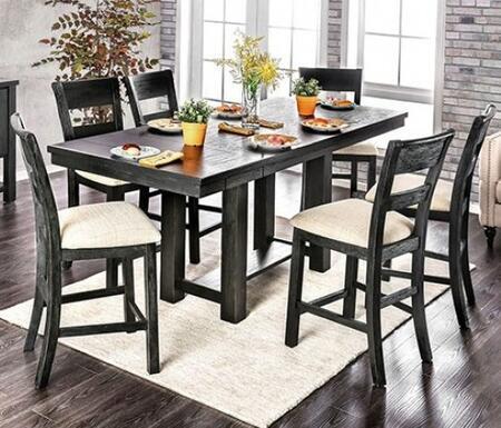 Furniture of America Thomaston CM3543PT6PC Dining Room Set Black, main image