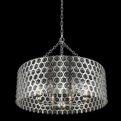 Vita 032252-014 32″ Pendant in Polished Silver Finish with Handblown Glass