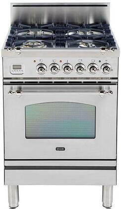 Ilve Nostalgie UPN60DVGGIX Freestanding Gas Range Stainless Steel, UPN60DVGGIX Gas Range