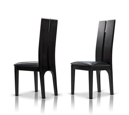 VIG Furniture Modrest Maxi VGGUJK414SCHBLK Dining Room Chair Black, maxi black oak chair   dsc 1414