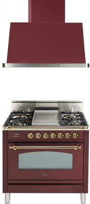 Ilve  1311527 Kitchen Appliance Package Red, Main Image