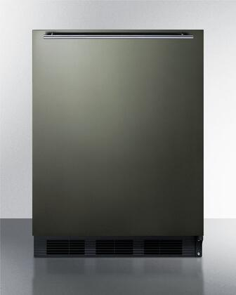 Summit  CT663BBIKSHH Compact Refrigerator Black Stainless Steel, Main Image