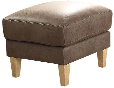 Acme Furniture Naroryta 53733 Living Room Ottoman Brown, 1