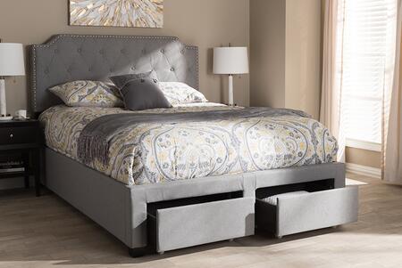 Baxton Studio Aubrianne WA8024GRAYKING Bed Gray, 8055 8056 10