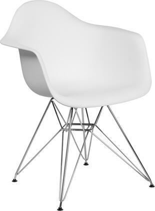Flash Furniture Alonza FH132CPP1WHGG Accent Chair White, FH 132 CPP1 WH GG