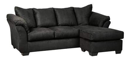 Signature Design by Ashley Darcy 7500818 Stationary Sofa Black, Main Image