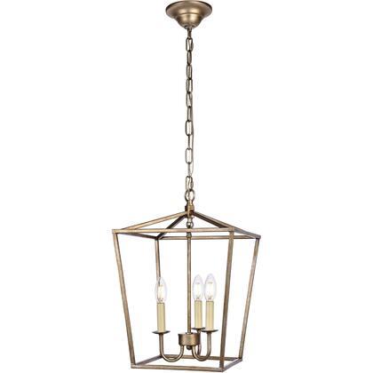 LD6008D12S Maddox 3 Light 13 inch Vintage Sliver Pendant Ceiling