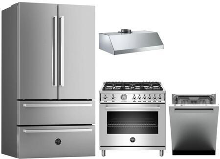 Bertazzoni 1054717 Kitchen Appliance Package & Bundle Stainless Steel, Main image