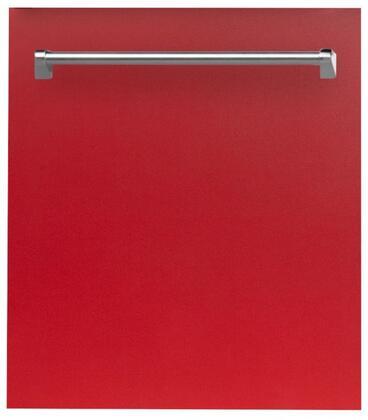 ZLINE  DWRM24 Built-In Dishwasher Red, DWRM24 Top Control Dishwasher