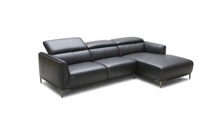 VIG Furniture Divani Casa Belfast VGKK5167BBLK Sectional Sofa Black, Main Image
